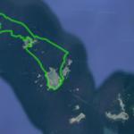 Jour 2 de la formation CRBCK de guide de kayak de mer dans l'Archipel de Molène avec Jean Marc Terrade, 12MN.