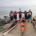 Tour de Bretagne en kayak de mer, 11 juillet, départ des Rosaires.