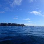 Tour de Bretagne en kayak de mer, 16 juillet, en route vers l'île Vierge.