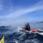 Tour de Bretagne en kayak de mer, 20 juillet, traversée de la baie des Trépassés.