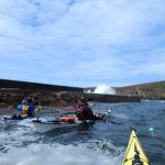 Tour de Bretagne en kayak de mer, 20 juillet, pause à Porz Loubous.