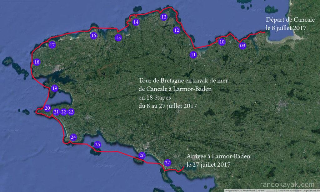 Tour de Bretagne en kayak de mer.