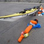 Kayak de randonnée Xplore-L, paré pour le Tour de Bretagne.