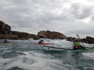 De la mousse, lors de la journée sécurité en kayak de mer organisée par CK/mer