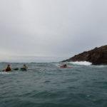 De la houle, lors de la journée sécurité en kayak de mer organisée par CK/mer