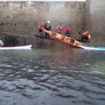 Tous sur la cale, lors de la journée sécurité en kayak de mer organisée par CK/mer