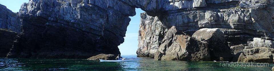 En kayak de mer, à la découverte du rocher du Lion.