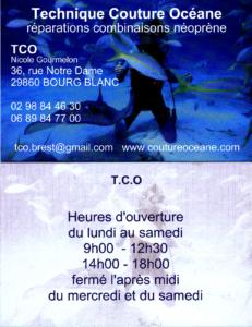 TCO - Technique Couture Oceane - Téléphone : 02 98 84 46 30
