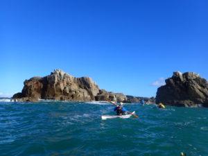 En kayak, entre Port-Blanc et Treguier.
