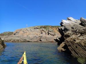 Rase-cailloux en kayak de mer à la pointe des Renards au Conquet