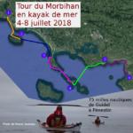 Tour du Morbihan en kayak de mer du 4 au 8 juillet 2018, de Guidel à Pénestin.
