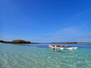 Pause de rêve, en kayak de mer à l'île de Litiri