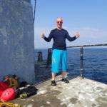 Jef sur le phare d'Ar Men en juillet 2018