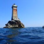 Annick au phare de la Vieille
