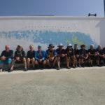 fresque du Centre nautique, Patrice et Guénolé étant déjà partis (photo prise par un jeune stagiaire du centre nautique)