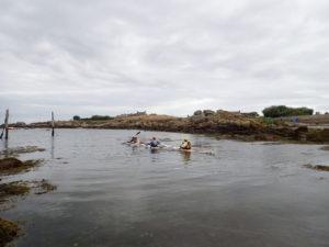 Port Mazou, le départ de notre tour d'Iroise en kayak de mer
