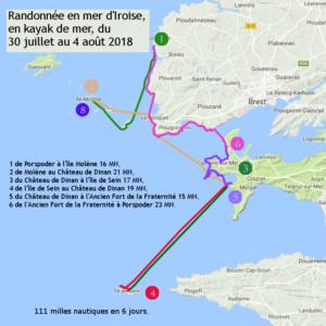 Tour en mer d'Iroise, en kayak de mer de Port Mazou à l'île de Sein, en passant par l'île Molène