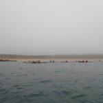 départ de la plage des Sables d'or