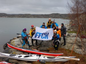 Formation Pagaie Noire FFCK, en octobre-novembre 2018 dans le Bohuslän en Suède - Photo Alpine Paddle