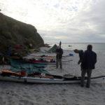 En kayak de mer, bivouac à Groix, juillet 2017