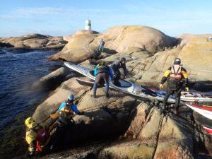 randonnée en kayak de mer, en Suède dans le Bohuslän