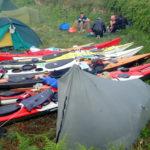 tarp tente et tipi, bivouac kayak de mer à Molène