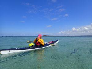 avec Élodie, en kayak de mer dans l'archipel de Molène