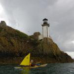 Vent en kayak de mer à l'île Louët