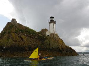 Vent et voile en kayak de mer