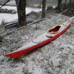 Hypothermie en kayak de mer, sous la neige à Paimpol