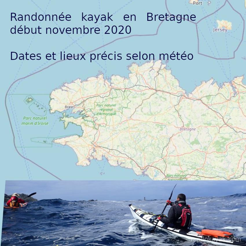 Annonce d'une randonnée de 4 à 5 jours en Bretagne, début